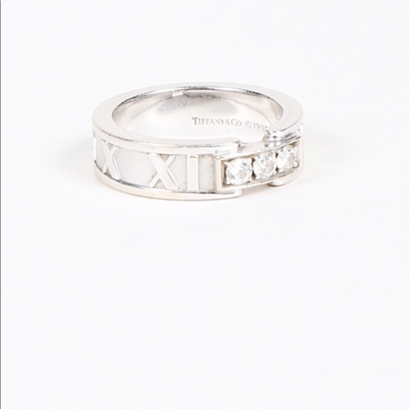 210a848fd19 Tiffany & Co. Jewelry | Sale 18ct White Gold Tiffany Atlas ...